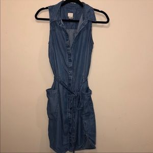 a new day Chambray Button Down Dress